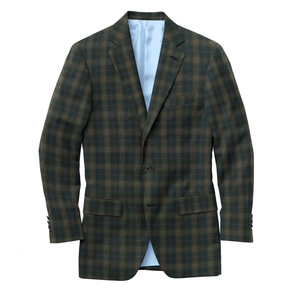 Charcoal Tobacco Windowpane Check
