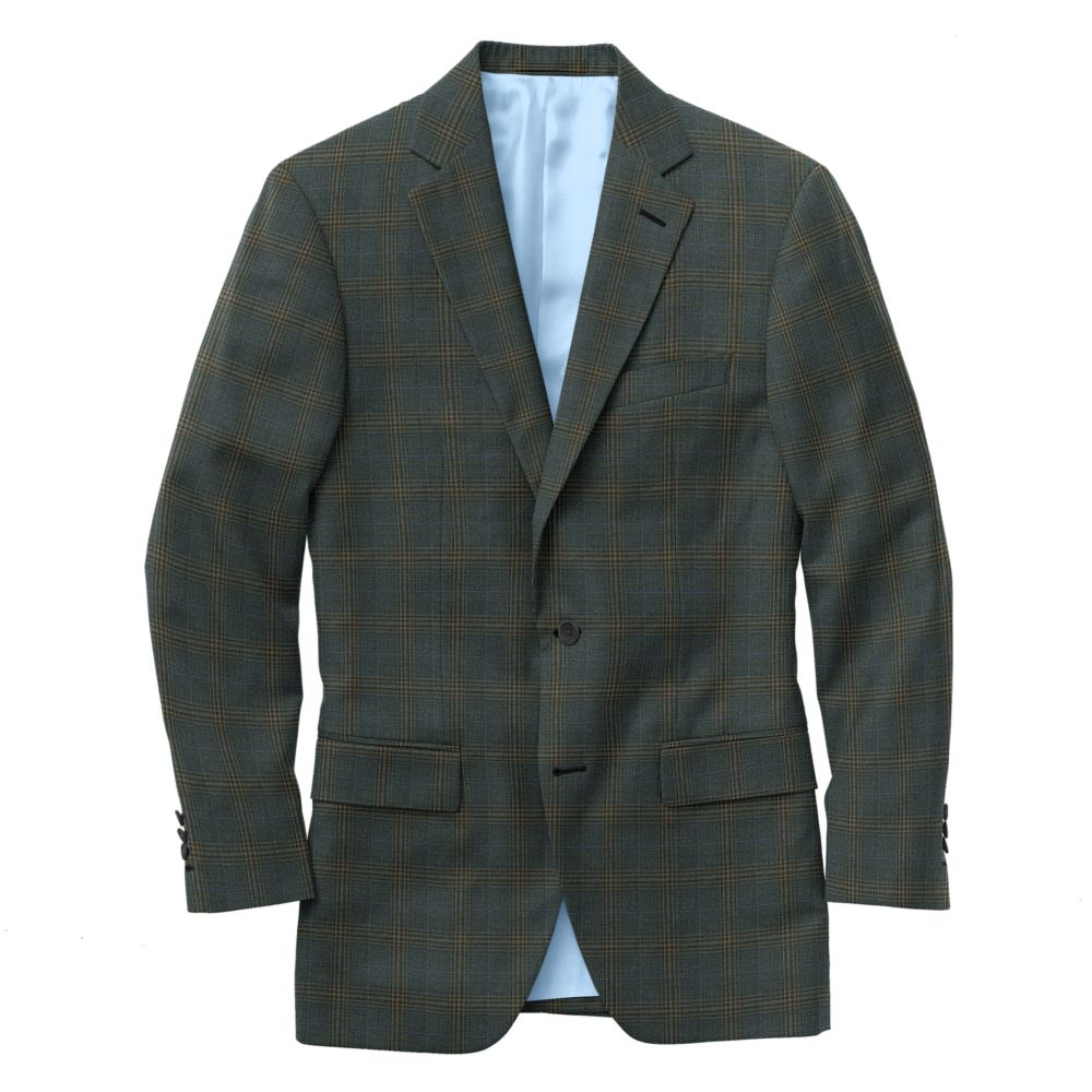 Gray Tobacco Windowpane Check