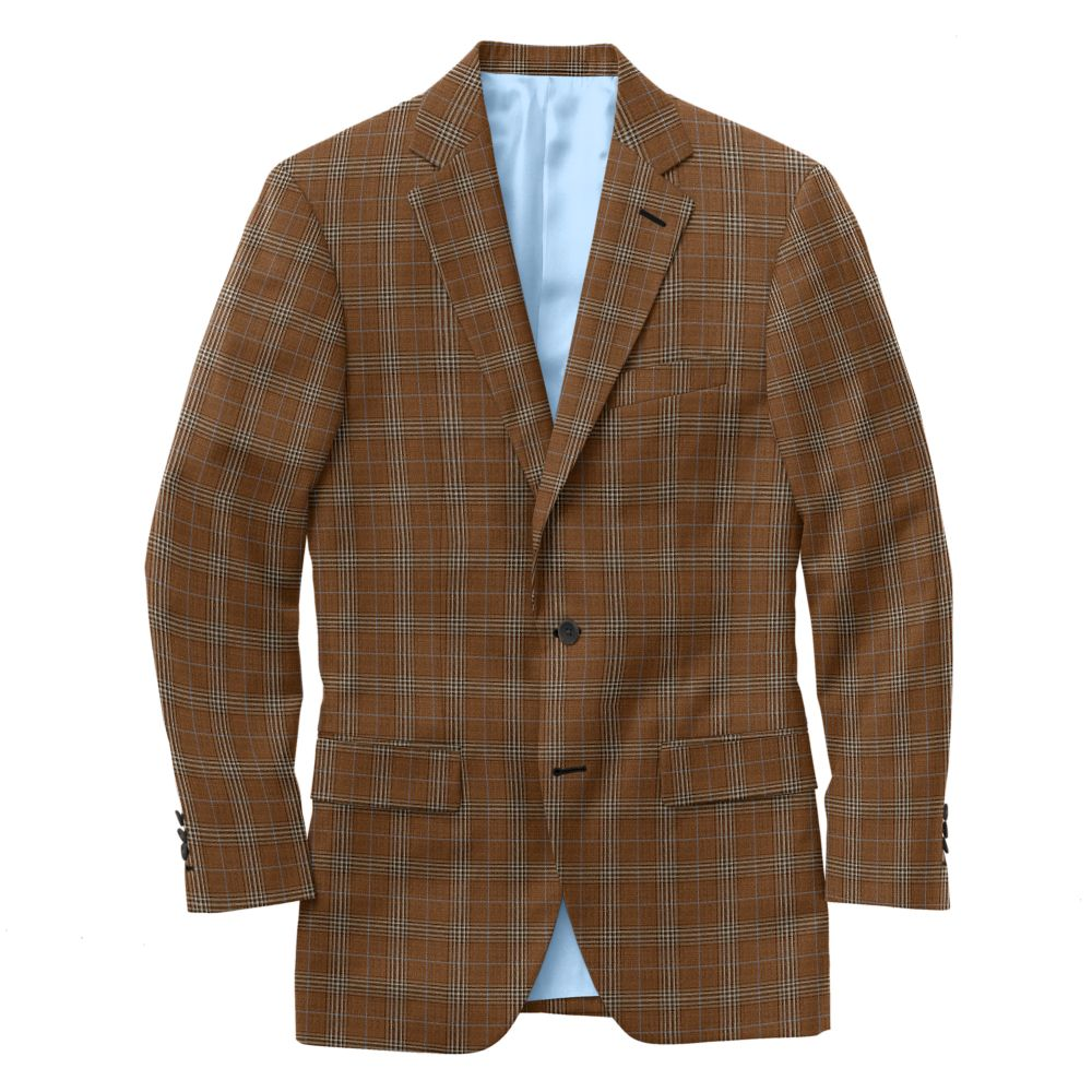 Russet Fawn Windowpane Check
