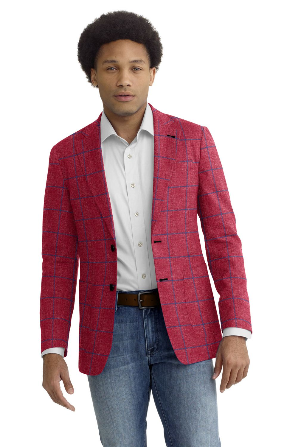 Red Blue Windowpane