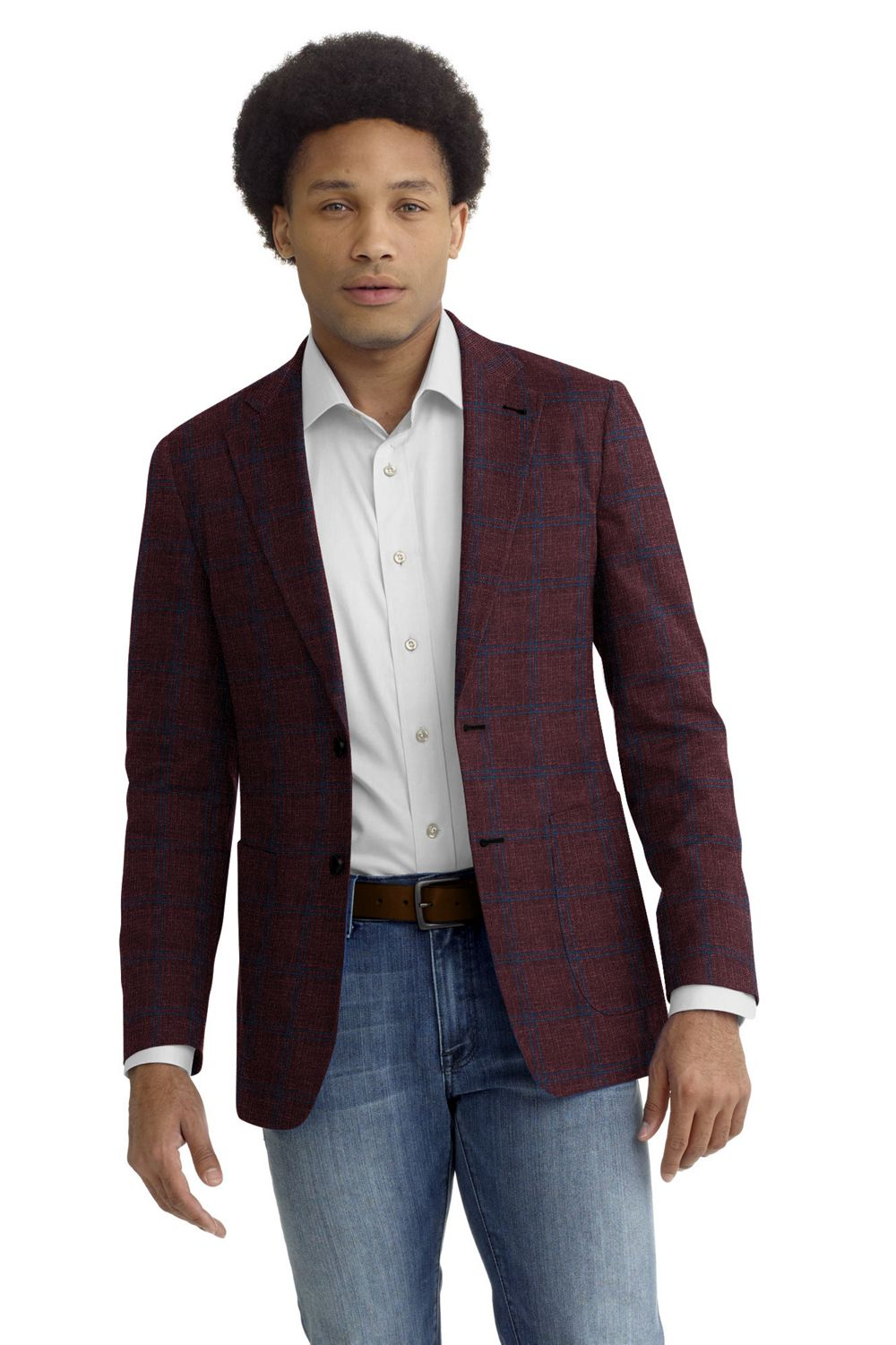 Cranberry Blue Windowpane