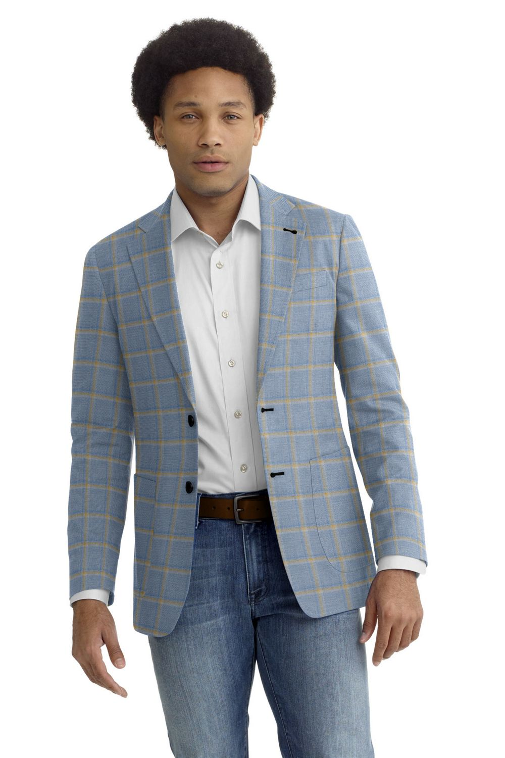 Light Blue Yellow Windowpane