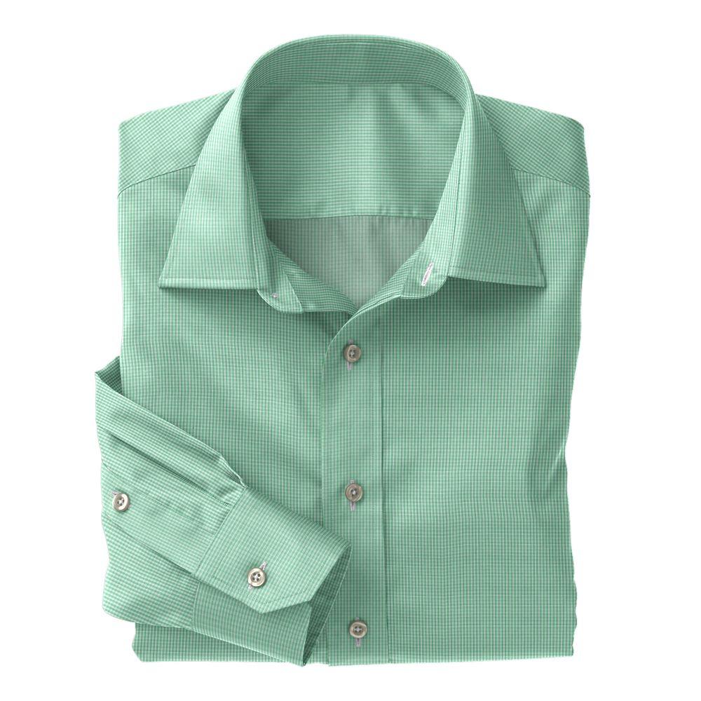 Green Mini Gingham Check 100s