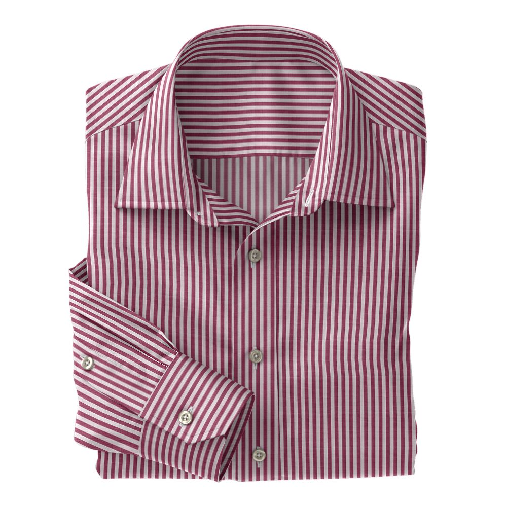 Burgundy Club Stripe 100s