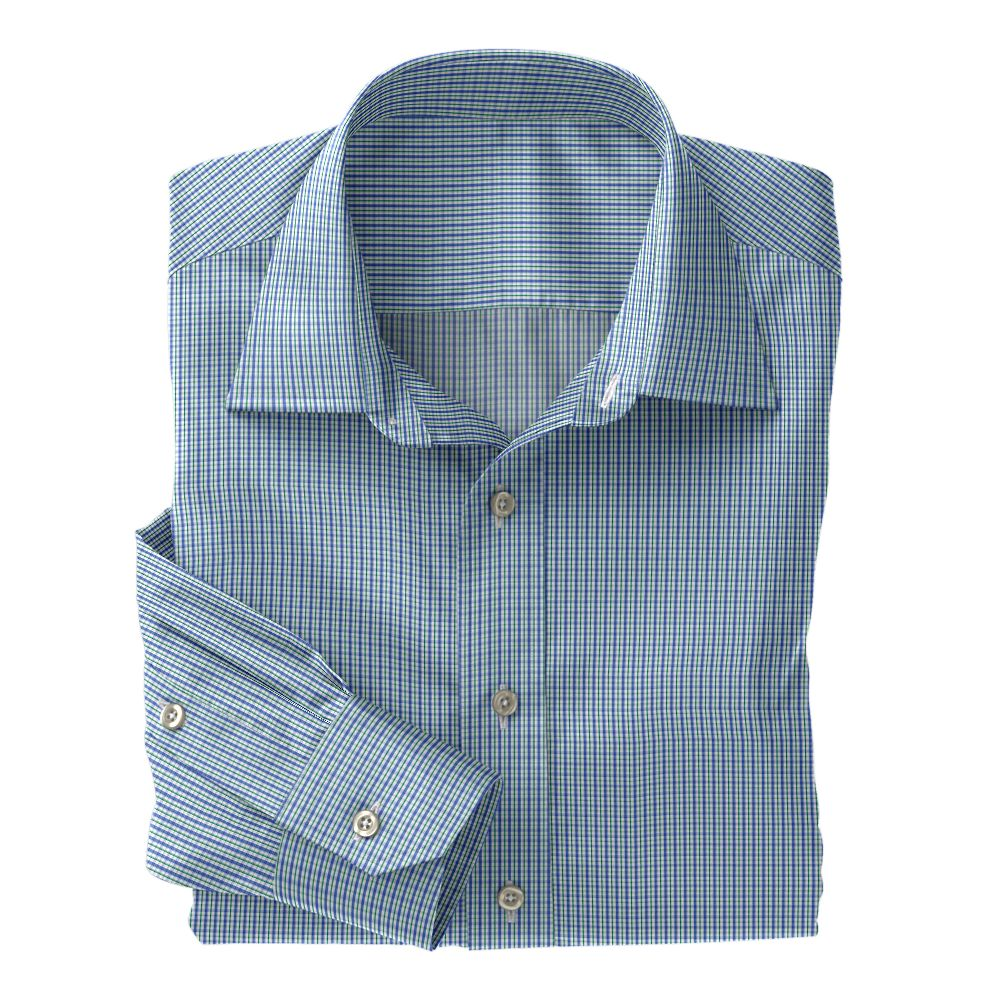 Green/Blue Jermyn Street Check 100s