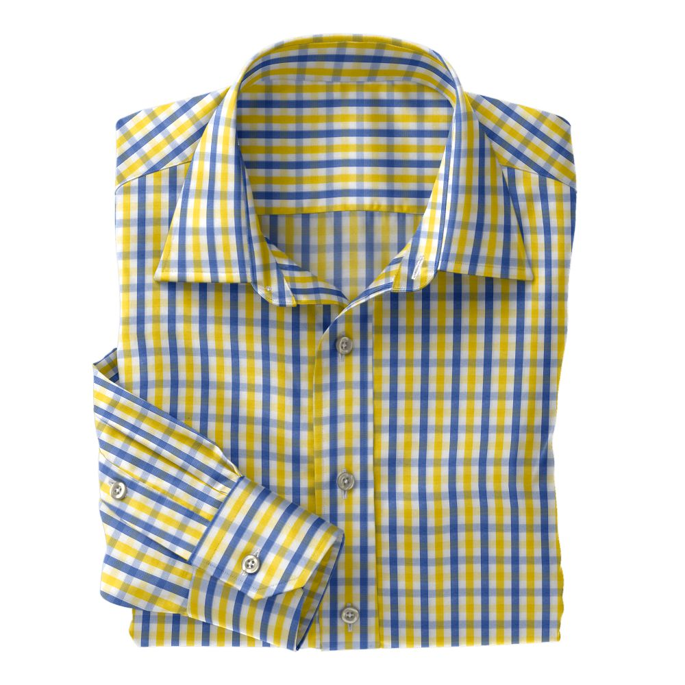 Yellow/Blue Fancy Club Check