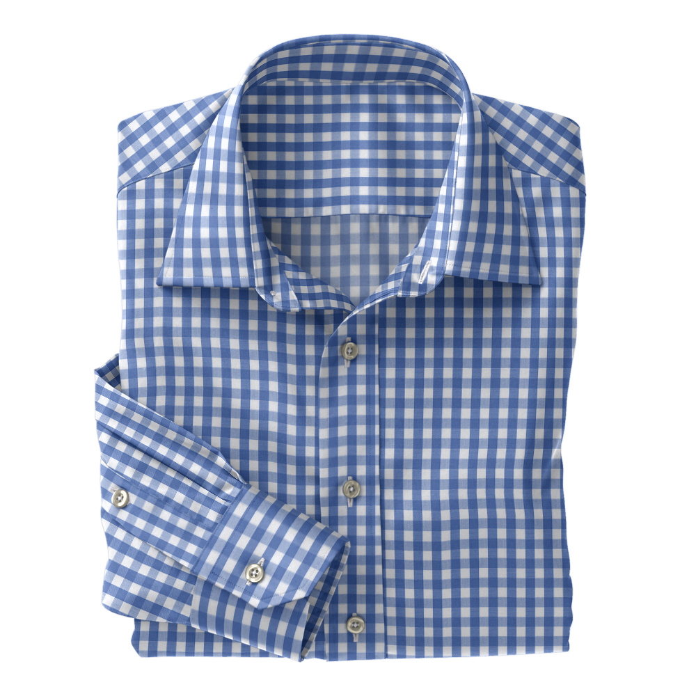 Blue Woven Gingham Check