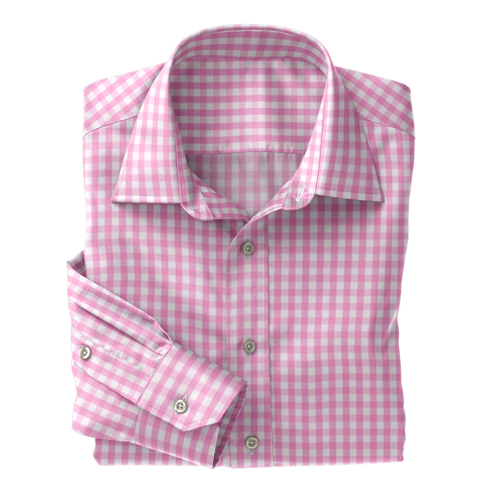 Pink Woven Gingham Check