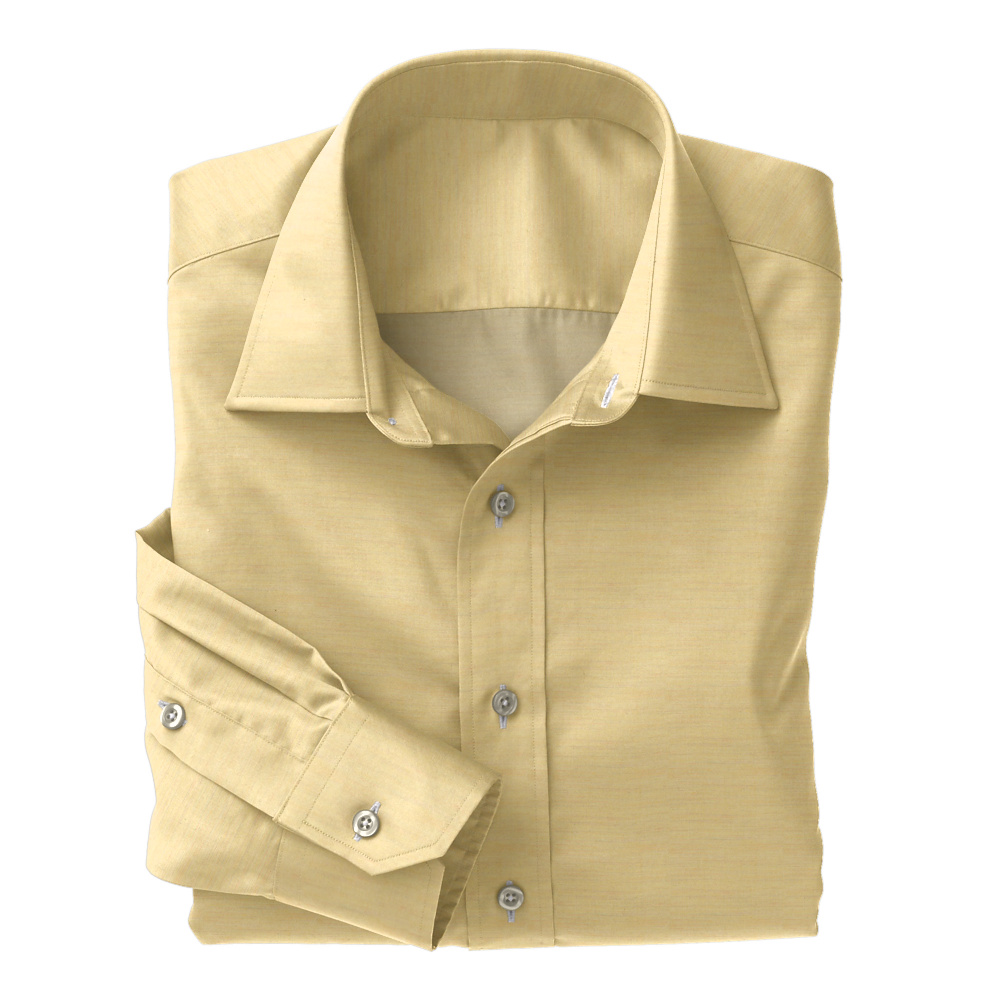 Yellow Chambray Solid