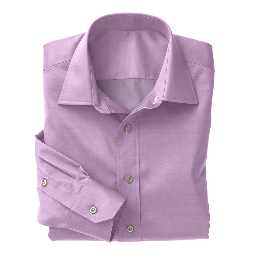 Purple Chambray Solid