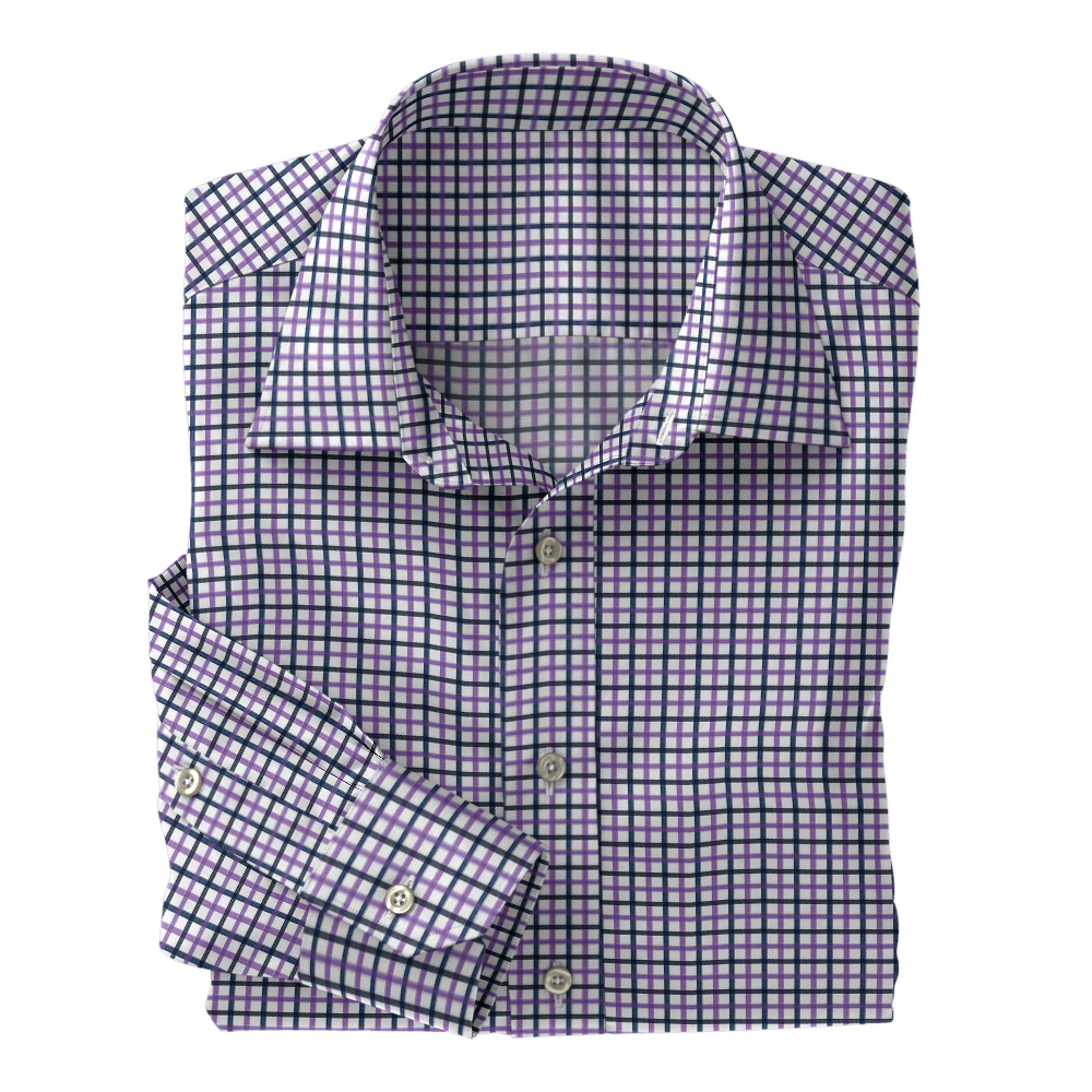 Navy Purple Plaid