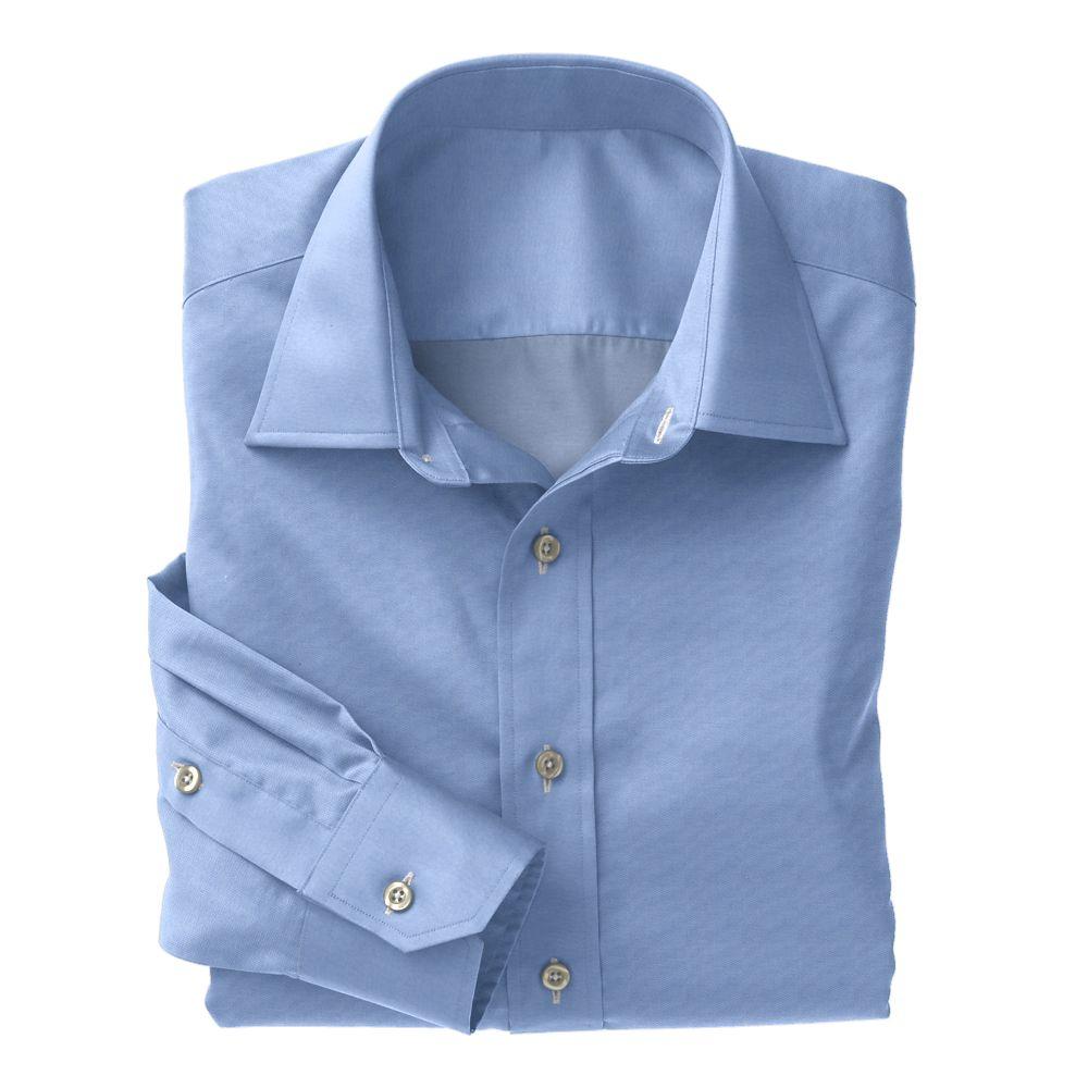 Blue Charles Herringbone 100s