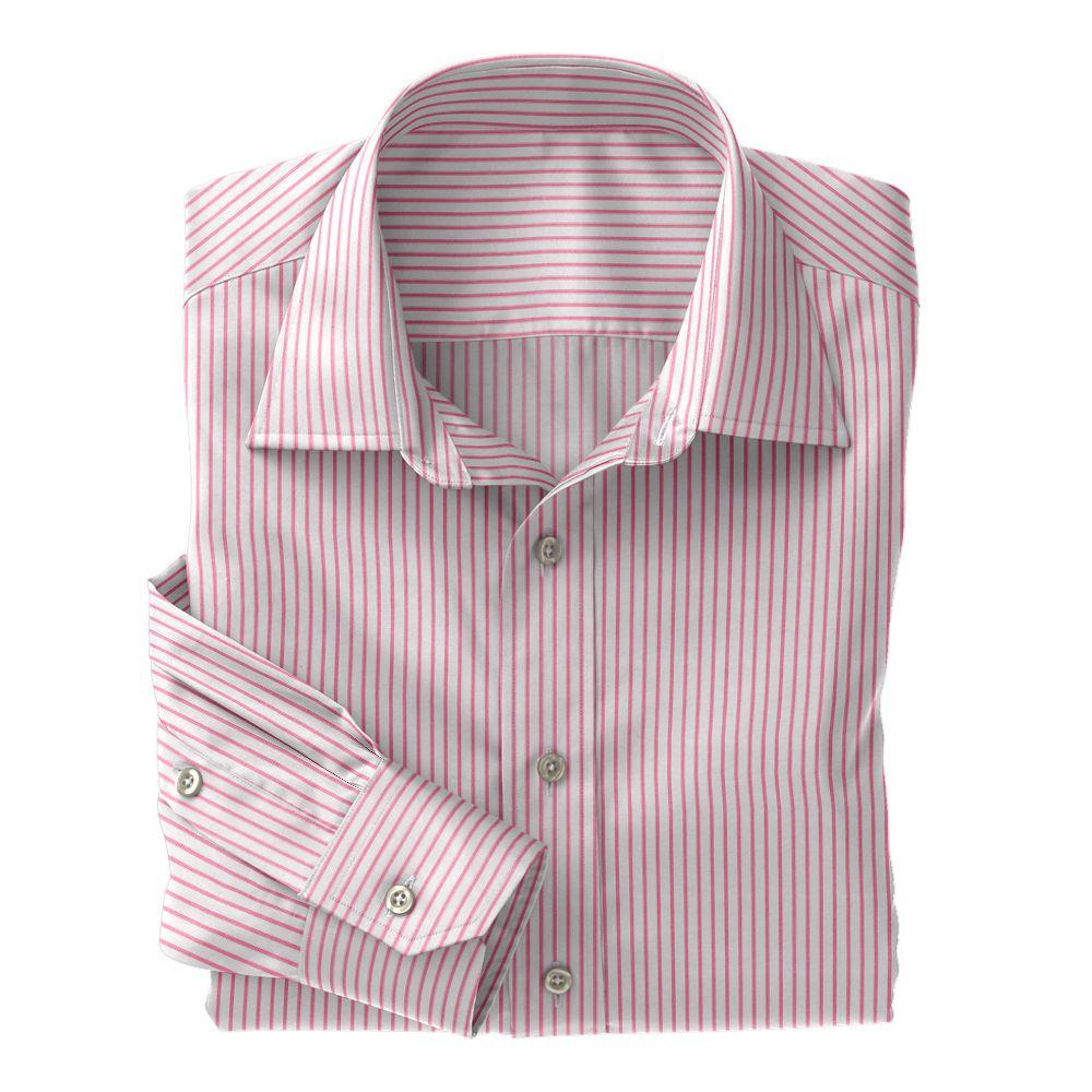 Pink Twill Stripe 100s