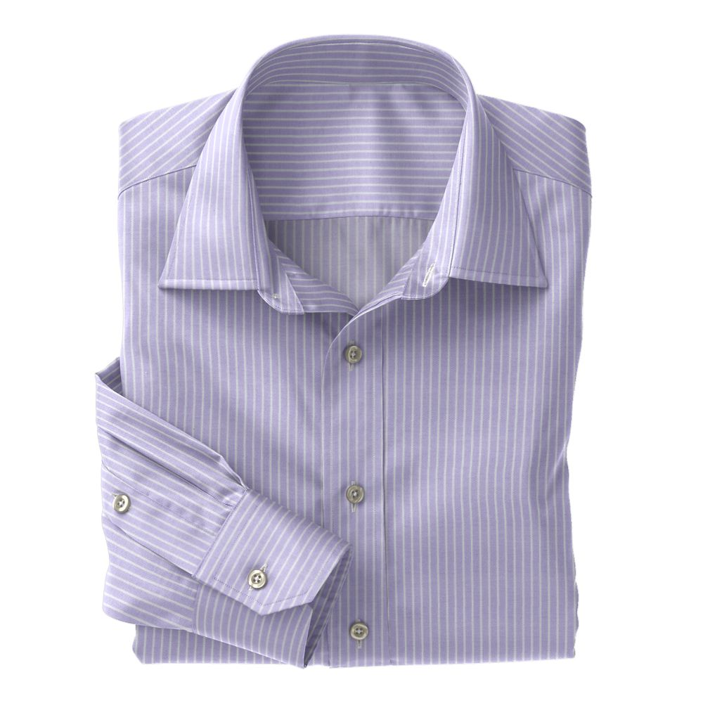 Lavender & White Twill Stripe 100s