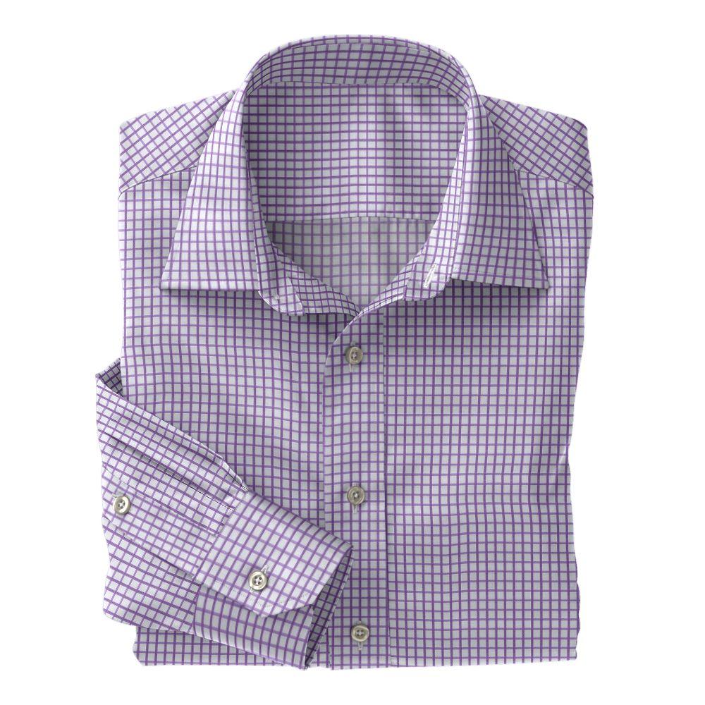 Lavender Twill Check 100s