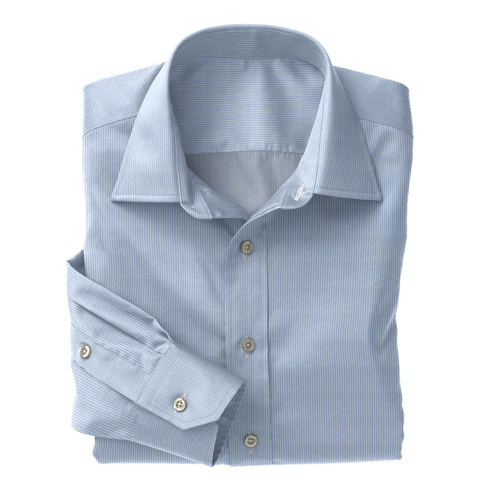 Blue Classic Twill Stripe 100s