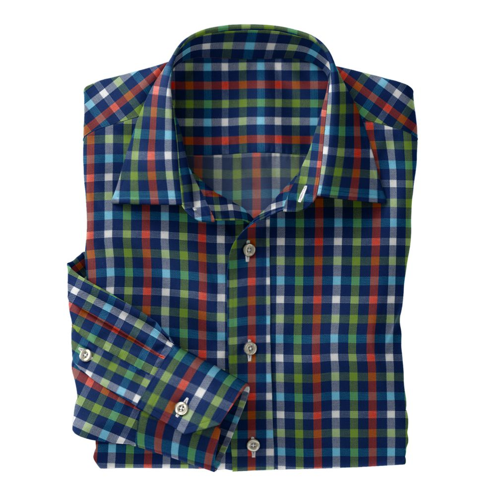 Navy Green Red Check