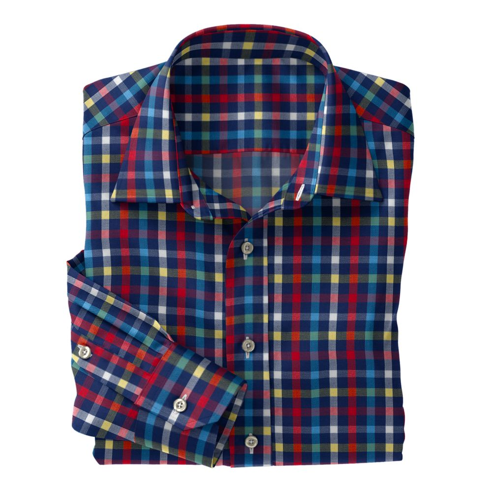 Navy Sky Red Check