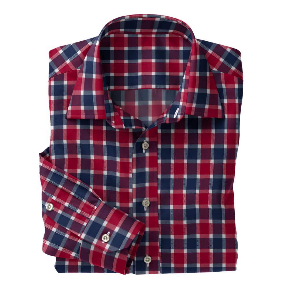 Red Navy White Check