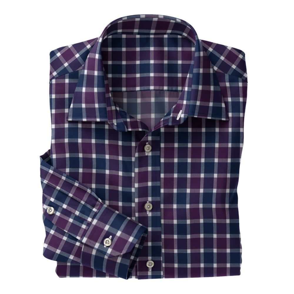 Purple Navy White Check