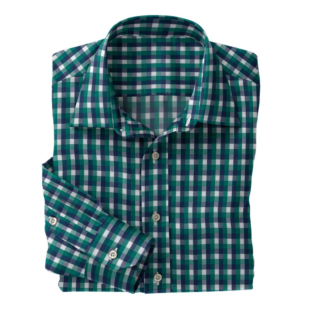 Green Navy White Check