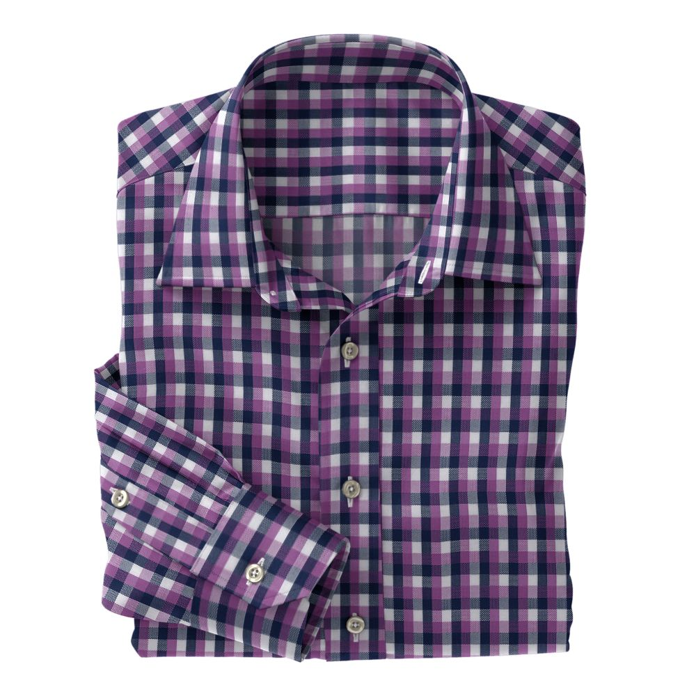 Lavender Navy White Check