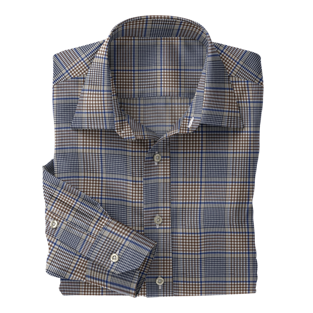Navy Brown Plaid