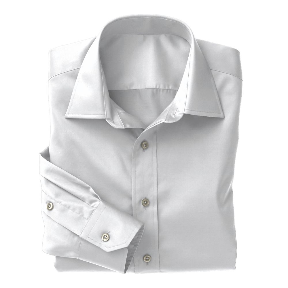White Twill  Non-Iron Classic Whites