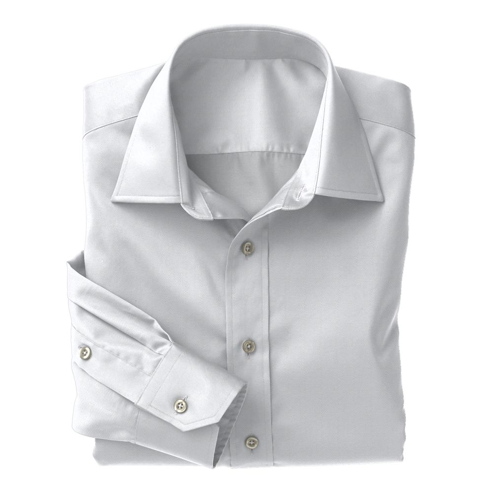 White Herringbone Non-Iron Classic Whites