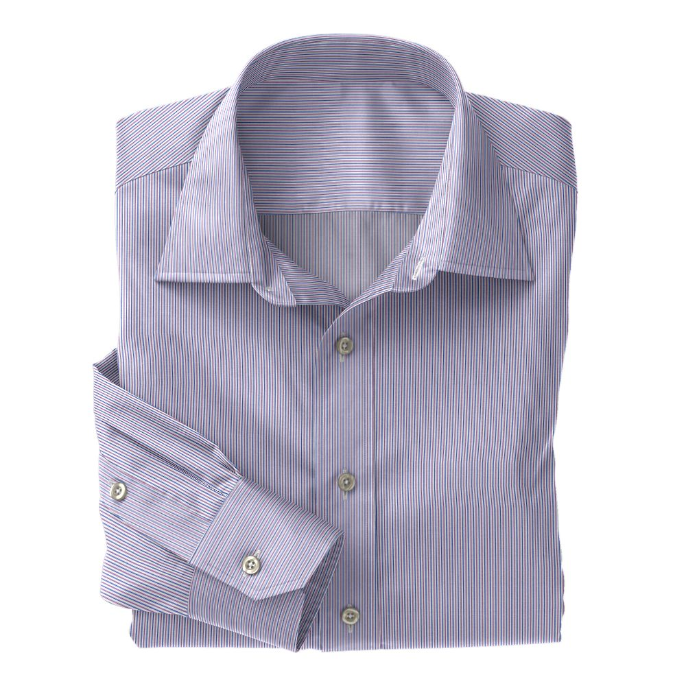 Purple & Blue Jermyn Street 120s Stripe