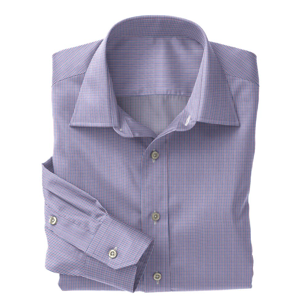 Purple & Blue Jermyn Street 120s Check
