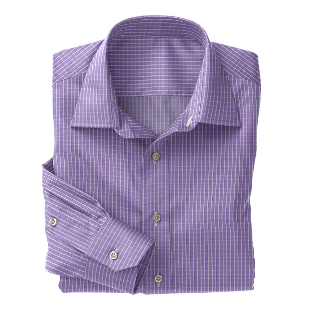 Violet Twill Check