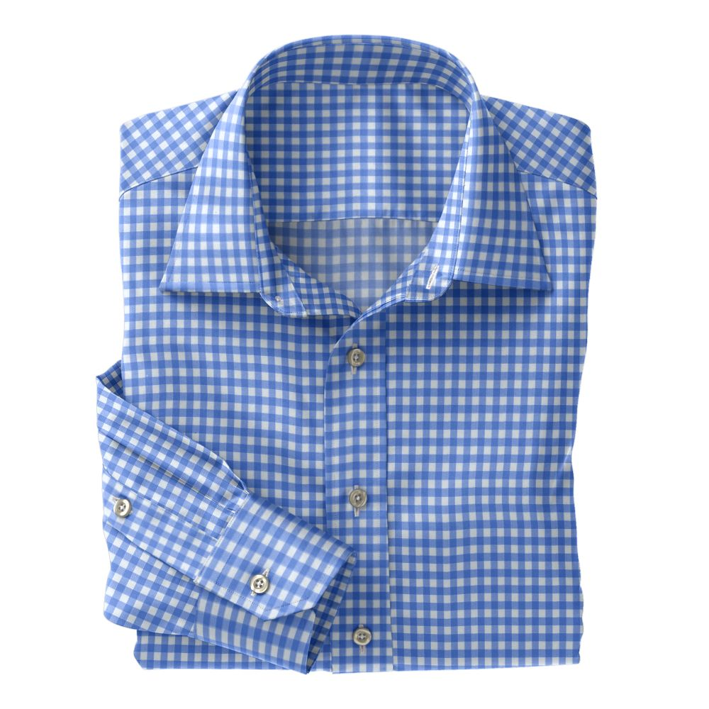 Blue Fancy Woven Check