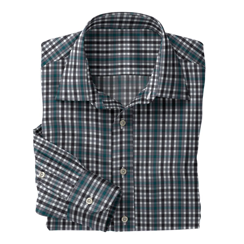 Green Slate Black Plaid