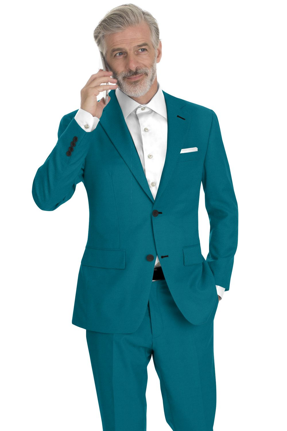 Emerald Solid Vitale Barberis Canonico Doeskin Super 100s