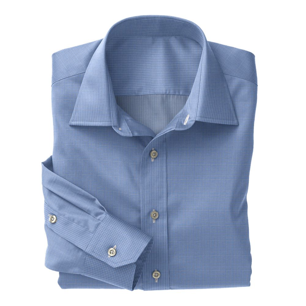 Medium Blue Tic Weave Poplin