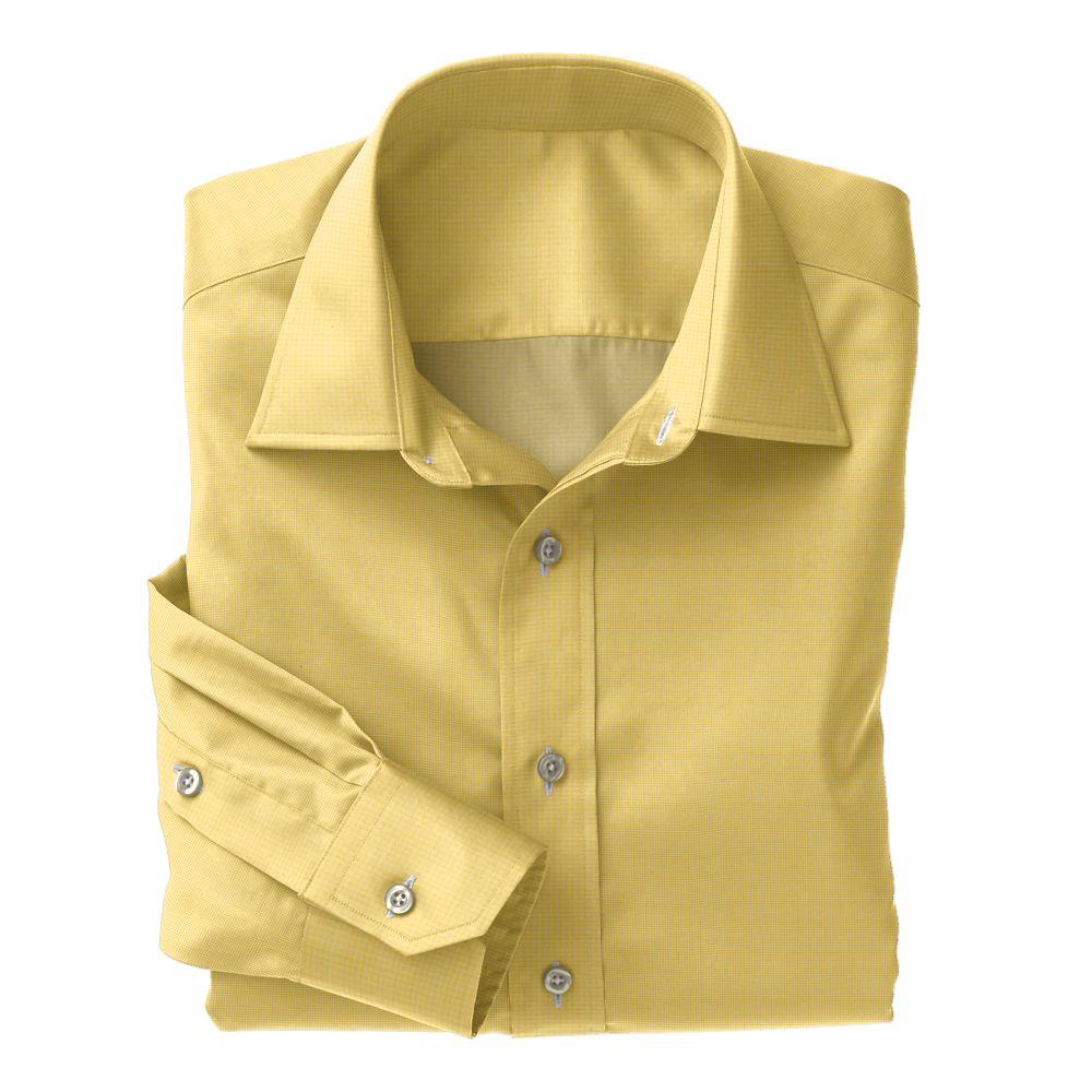Yellow Tic Weave Poplin