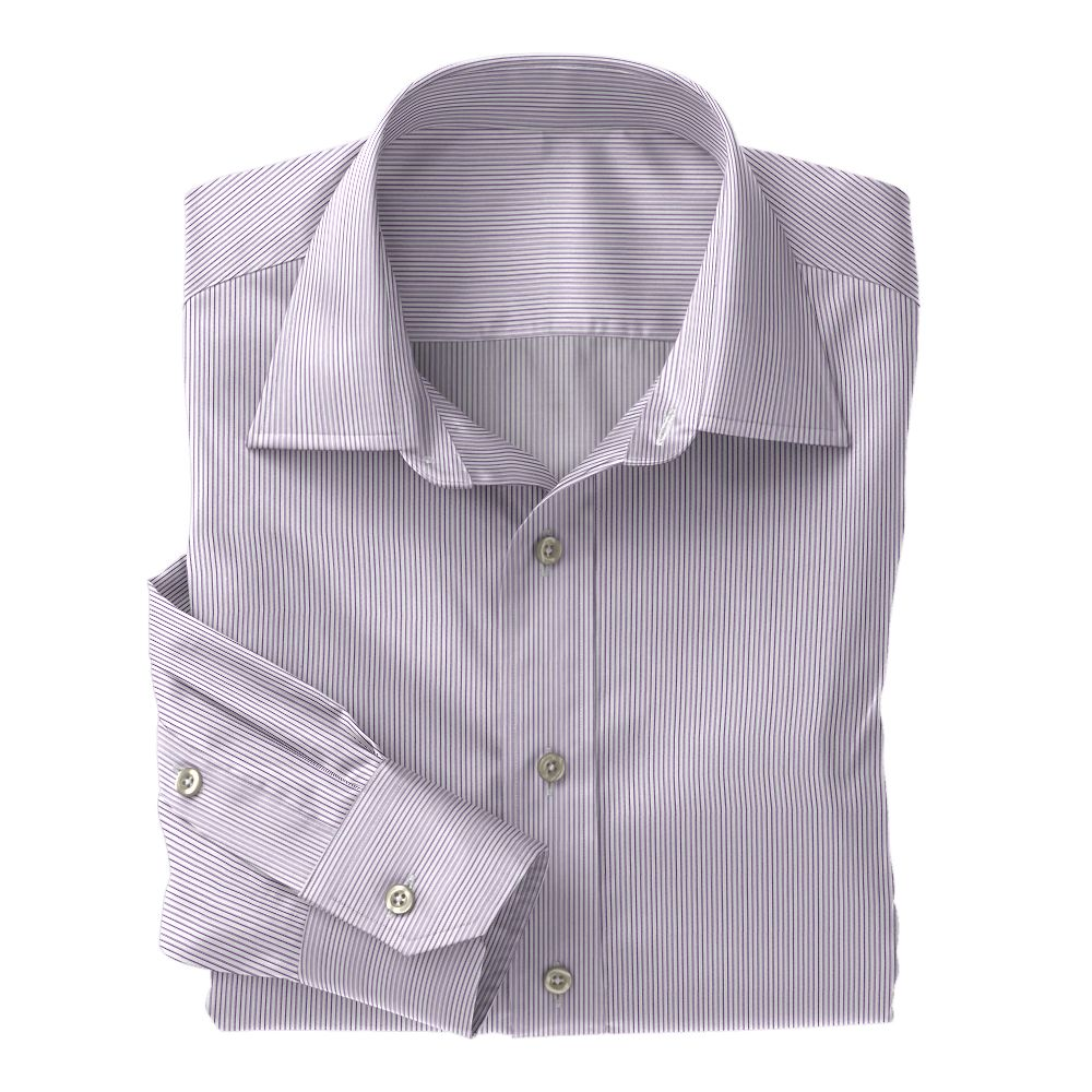 Purple Mini Stripe Poplin