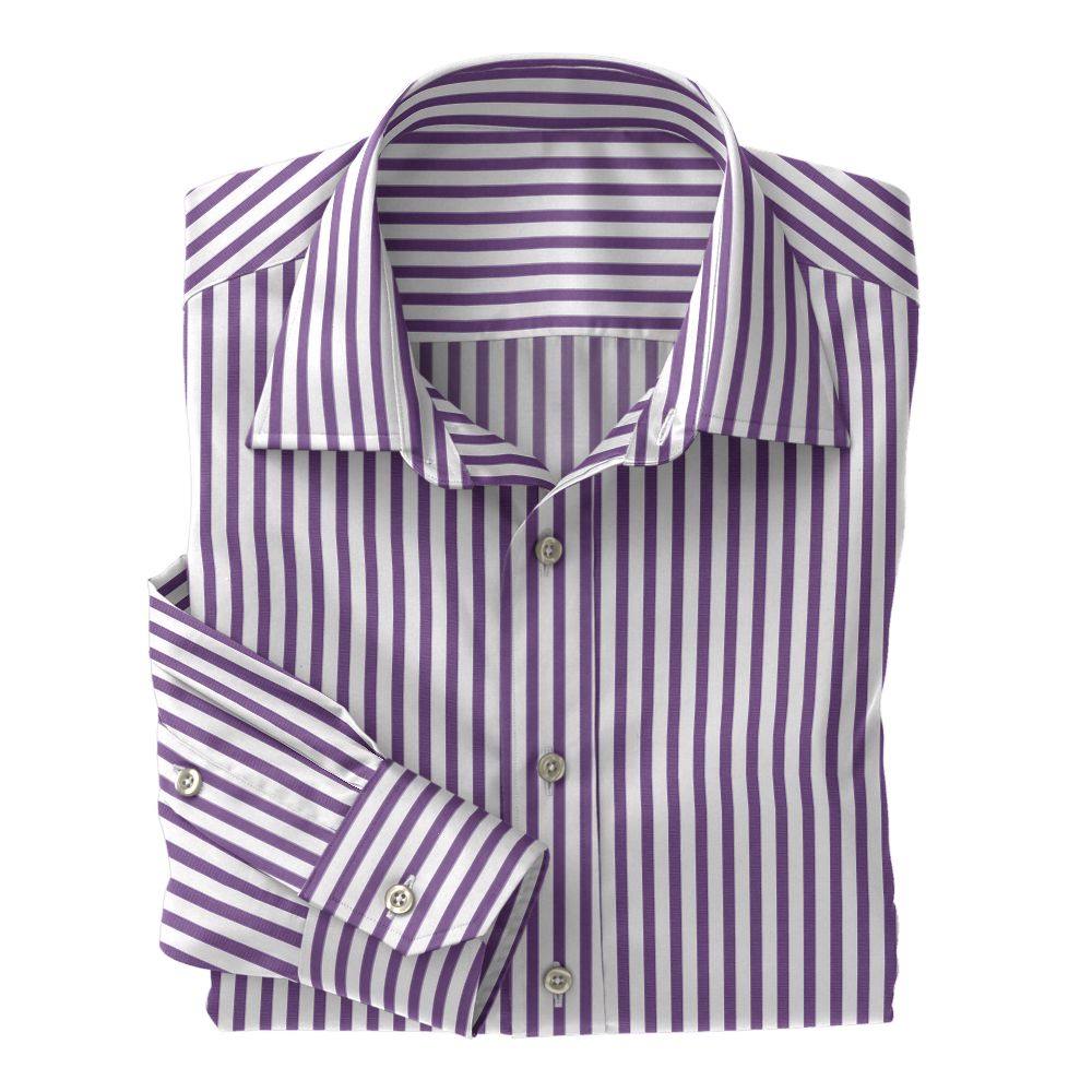 Purple Wide Stripe Poplin