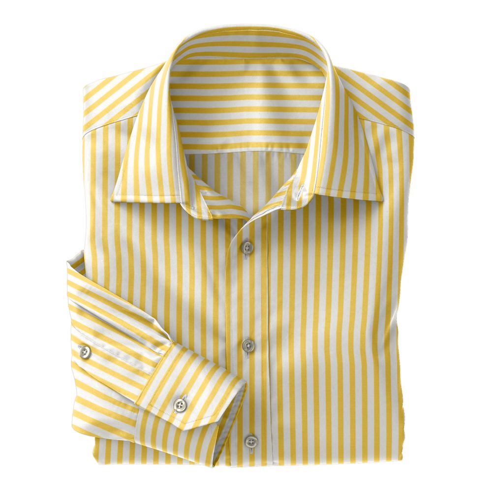 Yellow Wide Stripe Poplin