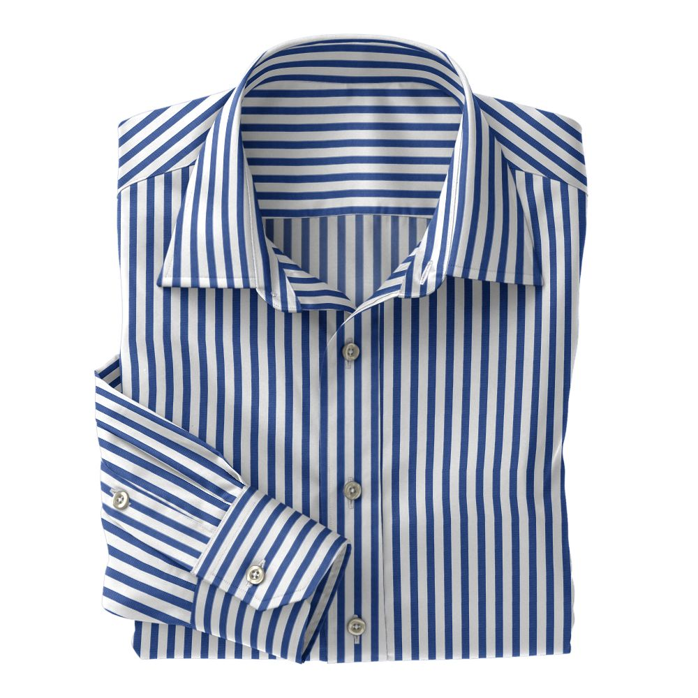 Royal Wide Stripe Poplin