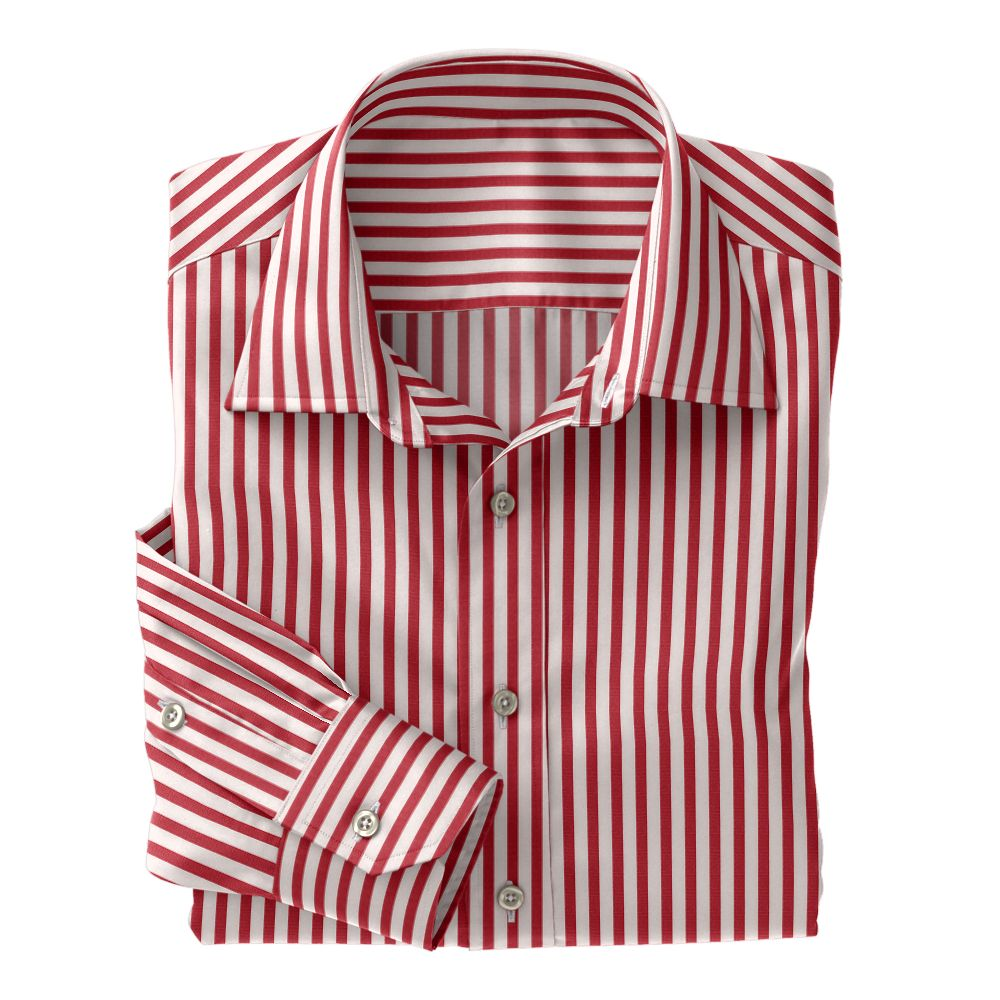 Red Wide Stripe Poplin