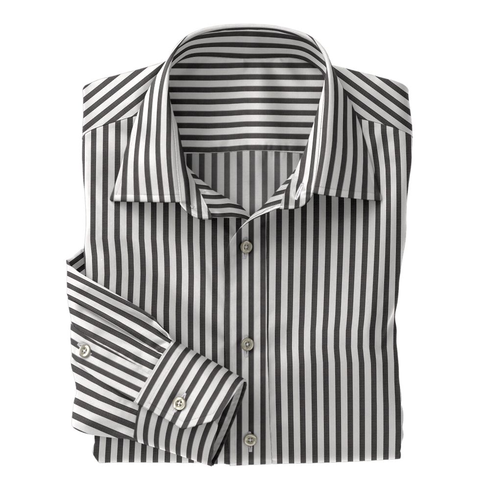 Brown Wide Stripe Poplin