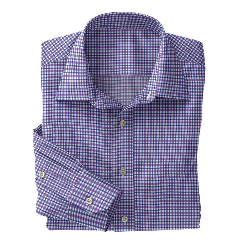 Purple and Blue Plaid Poplin