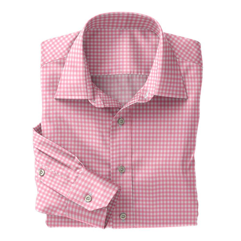 Pink Check Poplin