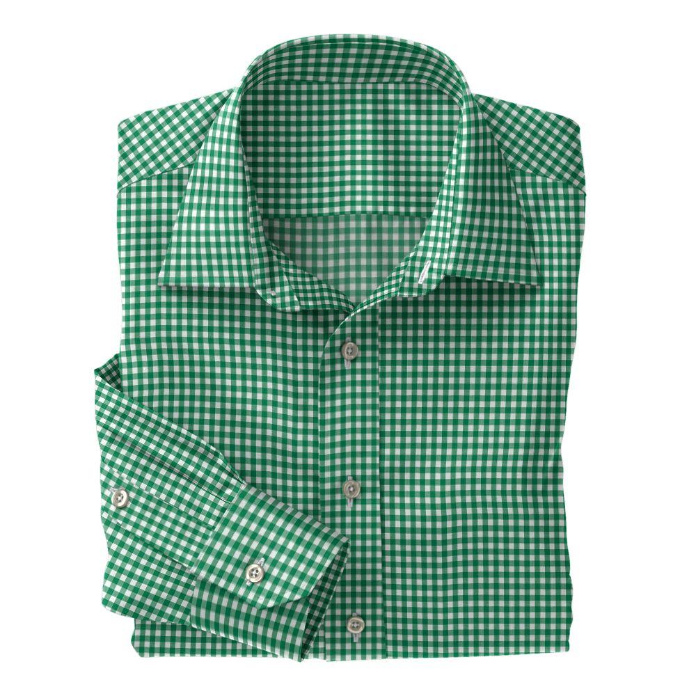 Green Check Poplin