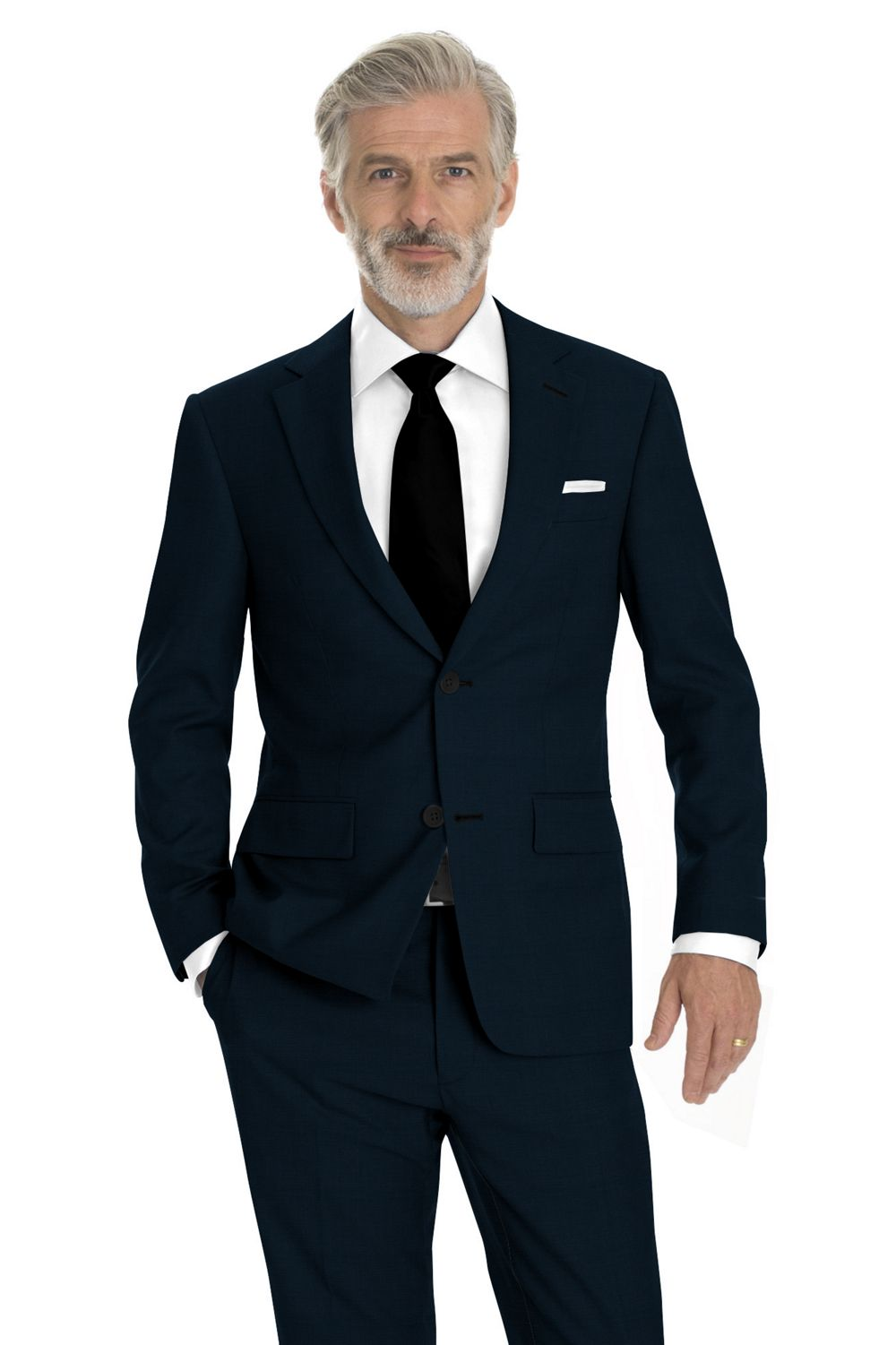 Navy Sharkskin