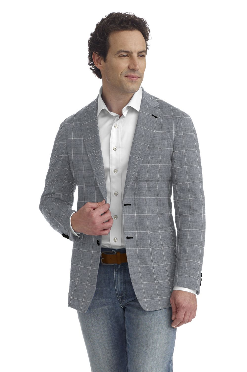 Light Grey Windowpane
