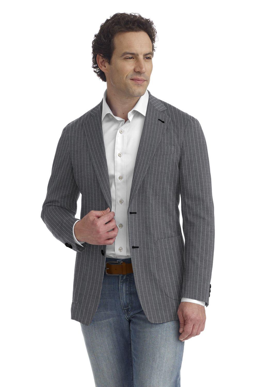 Light Grey Bold Stripe