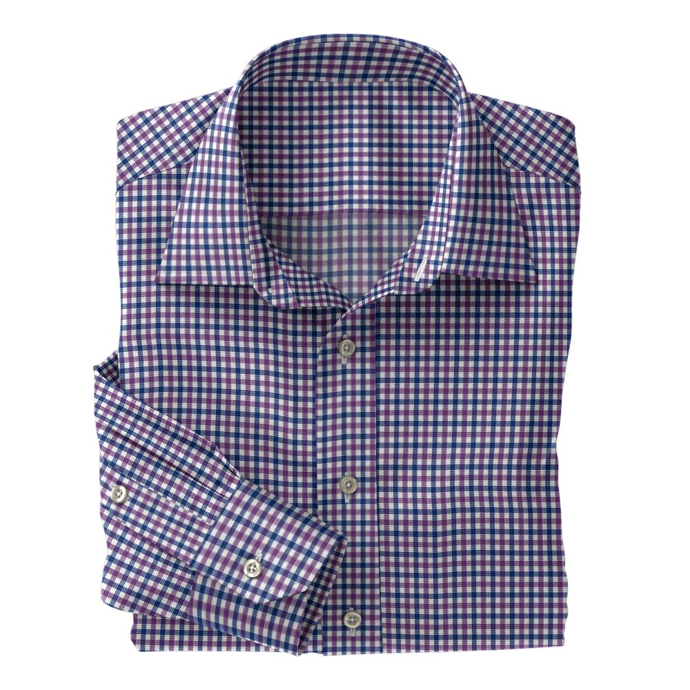 Purple and Blue Check Oxford